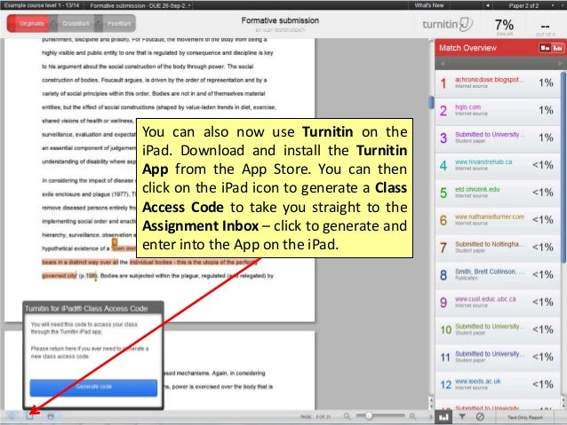 Turnitin originality report online